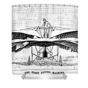 Frost Flying Machine, 1891 Shower Curtain