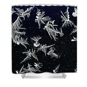 Frost On Car Window 4 Shower Curtain by Roger Snyder