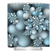 Frost Patterns Shower Curtain