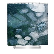 Frosted Bubbles Shower Curtain