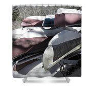 Frosted Canoes Shower Curtain