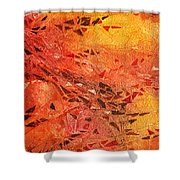 Frosted Fire I Shower Curtain