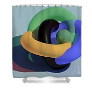 Frosted Glass Toruses Shower Curtain