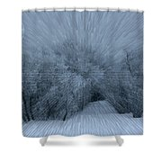 Frosted Moon Shower Curtain