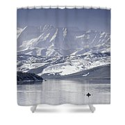 Frosted Mountains Shower Curtain