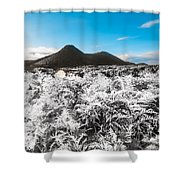 Frosted Over Hinterland Shower Curtain