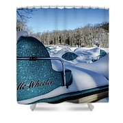 Frosted Paddleboats Shower Curtain