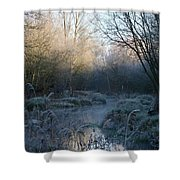 Frosted Riverbank Shower Curtain