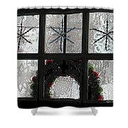 Frosted Windowpanes Shower Curtain