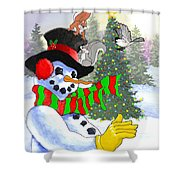Frosty And Friends Shower Curtain