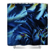 Frosty Blues Shower Curtain
