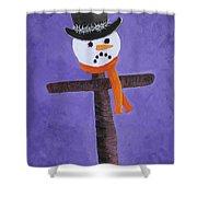 Frosty Cross Shower Curtain