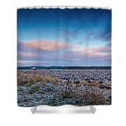 Frosty Fields Shower Curtain