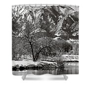 Frosty Flatirons 2 Shower Curtain