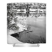 Frosty Flatirons Shower Curtain