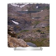 Frosty Lake 3 Shower Curtain