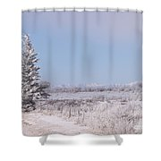 Frosty Landscape Shower Curtain