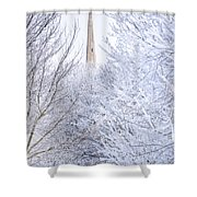 Frosty Morning Shower Curtain