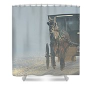 Frosty Morning In Amishland Shower Curtain