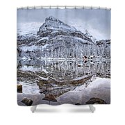Frosty Morning In Pano Shower Curtain