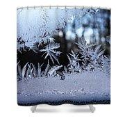 Frosty Morning Window Shower Curtain