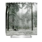 Frosty Paradise Shower Curtain