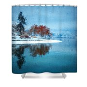 Frosty Reflection Shower Curtain