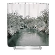 Frosty River Shower Curtain