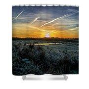 Frosty Sunrise Shower Curtain