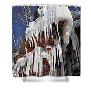 Frozen Apostle Islands National Lakeshore Portrait Shower Curtain
