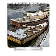 Frozen Boats Shower Curtain