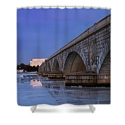 Frozen Bridges Shower Curtain
