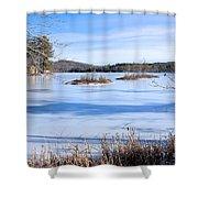 Frozen Bryant Pond Shower Curtain