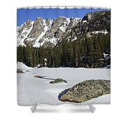Frozen Colorado  Shower Curtain