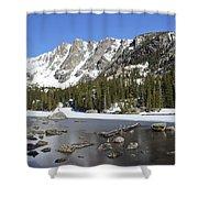 Frozen Colorado Lake Shower Curtain