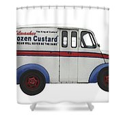 Frozen Custard On Wheels Shower Curtain