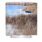 Frozen Dock Shower Curtain