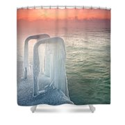 Frozen Shower Curtain by Evgeni Dinev