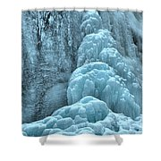 Frozen Falls Along The Icefields Parkway Shower Curtain