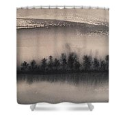 Frozen Fields  Shower Curtain