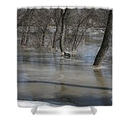 Frozen Floodwaters Shower Curtain