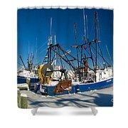Frozen Hyannis Harbor Shower Curtain