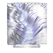 Frozen Ice River Shower Curtain