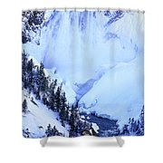 Frozen In Time Yellowstone National Park Shower Curtain