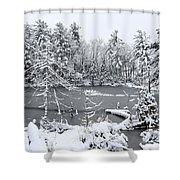 Frozen Lake 3 Shower Curtain