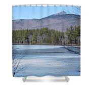 Frozen Lake Chocorua Shower Curtain