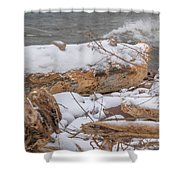 Frozen Land Shower Curtain