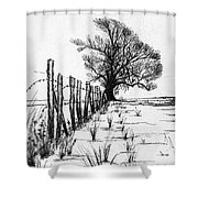 Frozen Landscape Canada Shower Curtain