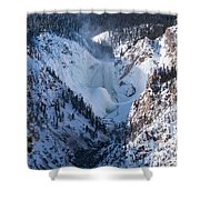 Frozen Lower Falls Shower Curtain
