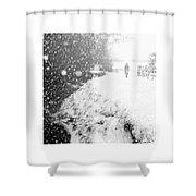 Frozen Moments - Walking Away Shower Curtain